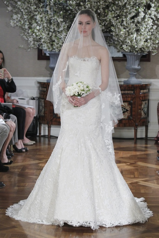 Spring 2013 wedding dress collections Romona Keveza bridal gown lace trumpet - ooh!