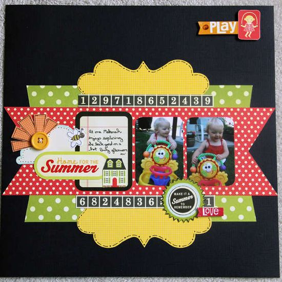 Sunshine, Scrapbook Layout