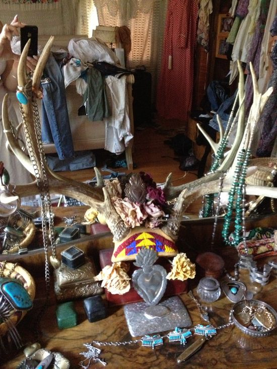 Vintage Antlers and Turquoise jewelry