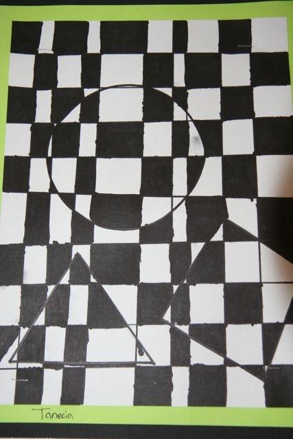Splish Splash Splatter: 6th Grade  easy op art
