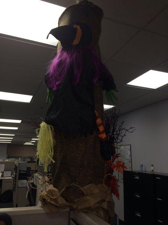 Halloween/harvest work decoration #poledecoration #halloween #workdecoration
