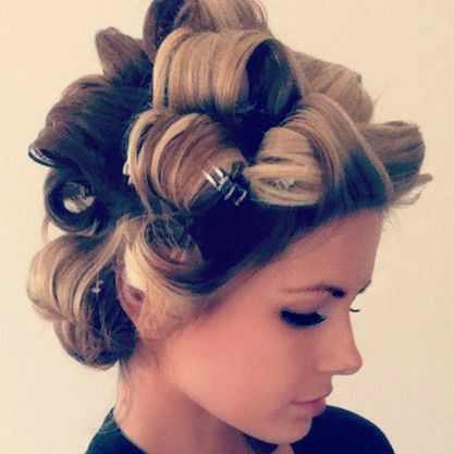 pin curls to get the perfect curls