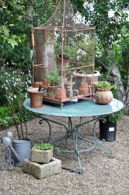 the kitchen garden at Velvet and Linen