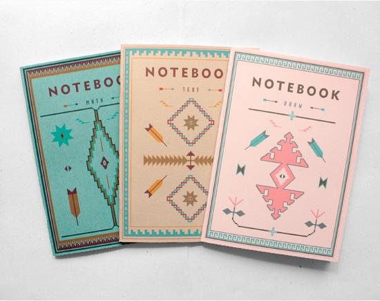tribal notebooks - navajo pattern - by arminho