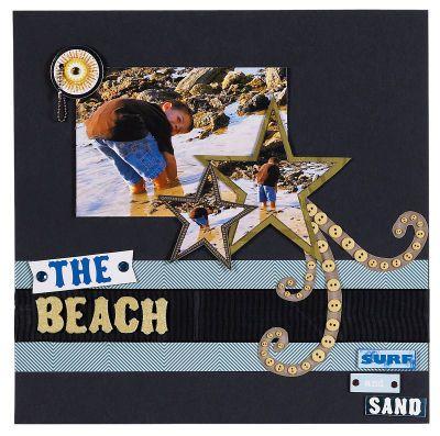 Beach scrapbook
