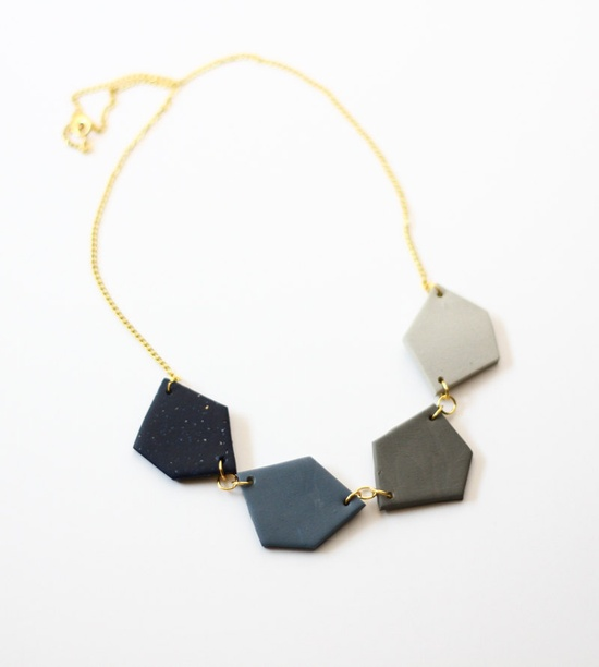 geo link collar necklace by AMM Jewelry
