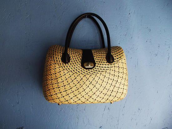 Vintage wicker bag, wonderful.