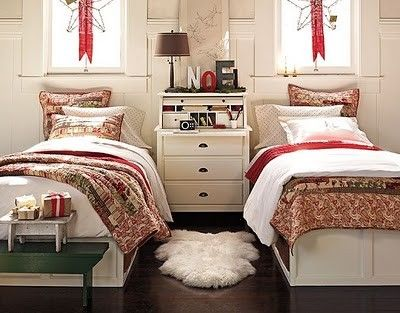 sweet guestroom for Christmas guests