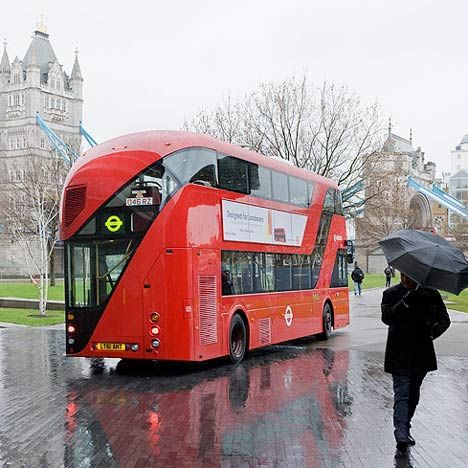 The shiny, happy new London buses designed by Heatherwick Studio will be on the road in 2012.