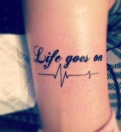 Life goes on #pulse #tattoo