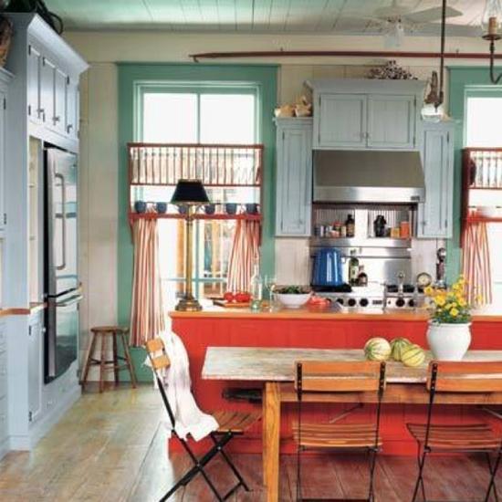 A lovely, colorful kitchen.