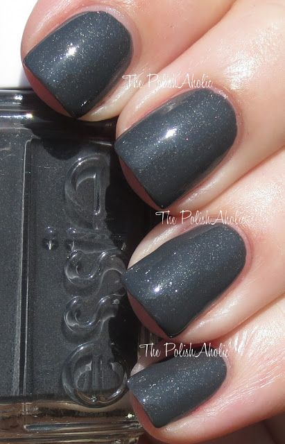 """Essie """"Cashmere Bathrobe"""" Fall 2013 collection Love this dark sparkly grey! I need this!!!"""