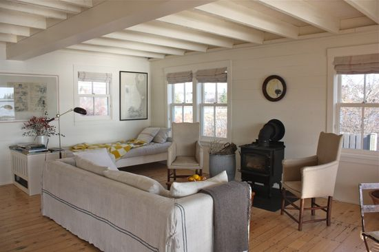 living room - harbor cottage maine by Sheila Narusawa architect