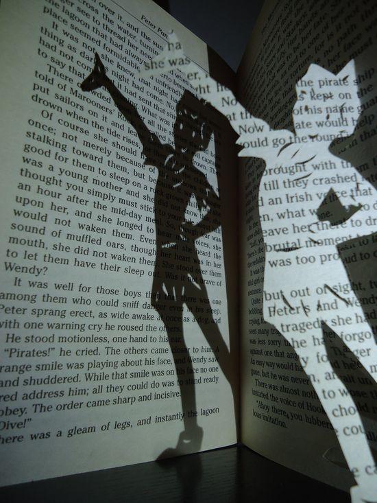 Peter Pan Book Art