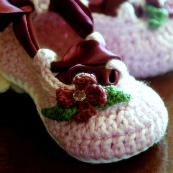 Baby Ballet slipper Crochet Pattern : )