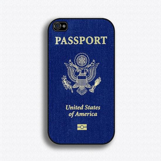 Passport iPhone case.