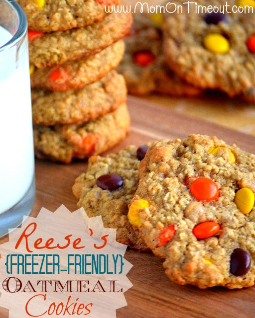 Reese's Freezer-Friendly Oatmeal Cookies
