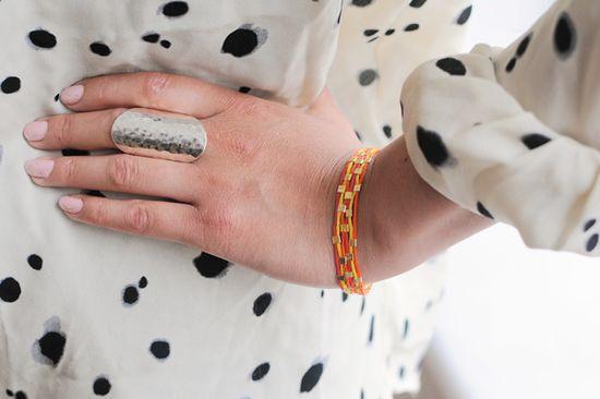 Get your hands on a grown-up friendship bracelet DIY