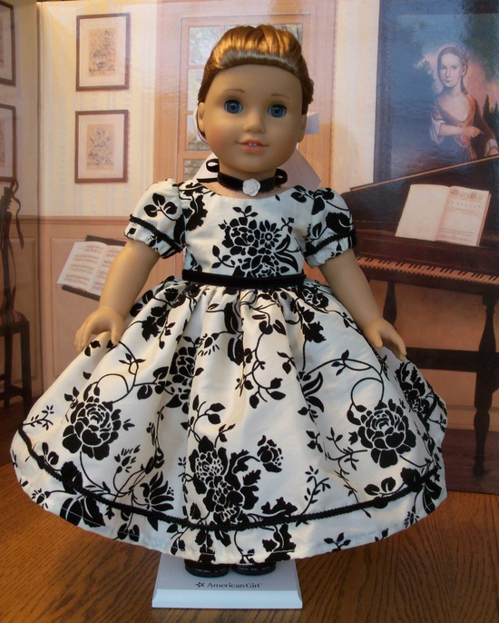 American Girl  Special Occasion Tafetta Gown  / Clothes for Marie Grace, Cecile or Caroline. $75.00, via Etsy.