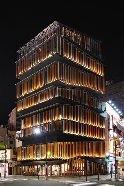 Asakusa Culture Tourist Information Center by Kengo Kuma, Japan   # Pin++ for Pinterest #