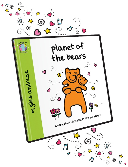 EXCELLENT conscious childrens books, the planet of the bears 3d book cover