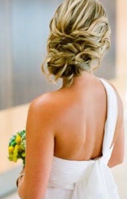 bride hair- love the back