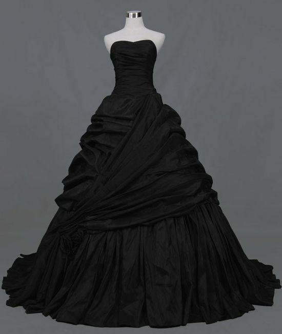 black #wedding dress