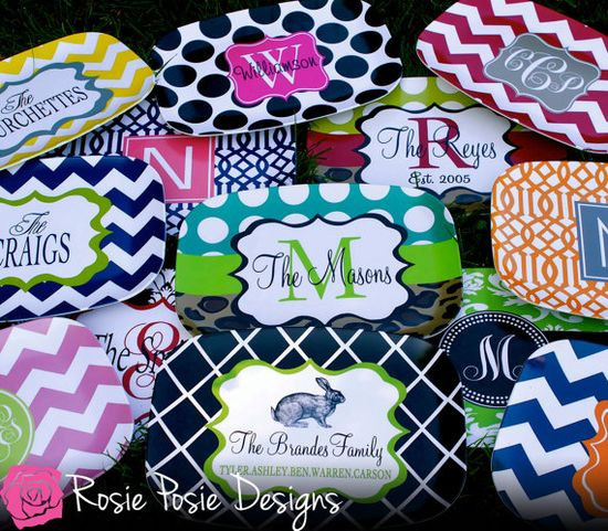 Personalized Melamine Platter-Design Your Own on Etsy, $24.50