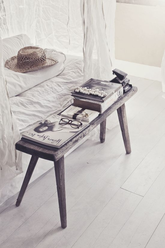 rustic + beachy coffee table
