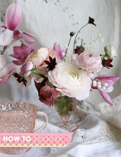 D*S flower arrangement tutorial