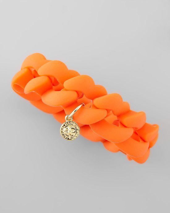 Braided Orange Bracelet.