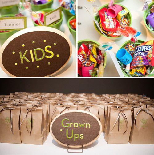 Kid wedding favors