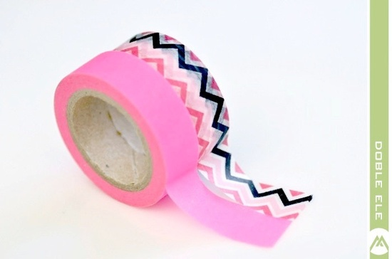 Washi Tape Zig Zag or Neon Pink by DobleEle on Etsy.