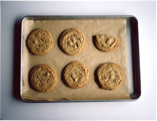 salty peanut butter cookies-yes, there's chocolate in there, too!