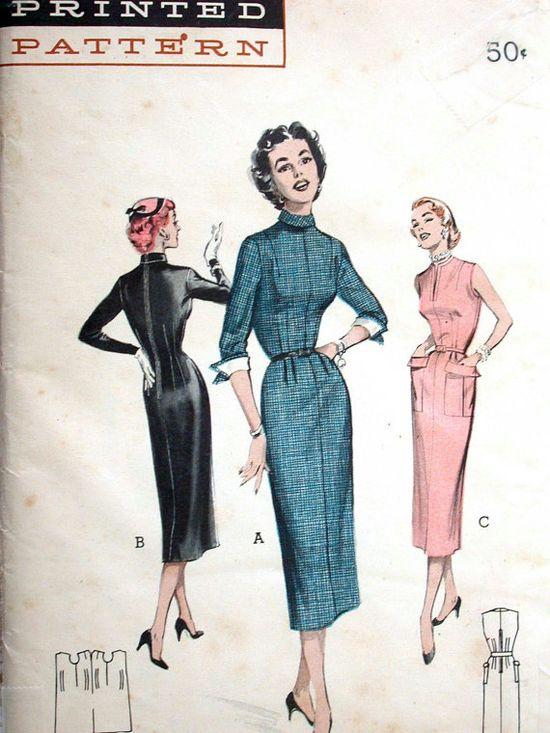Butterick Dress Pattern No 6636 Vintage 1950s by CaliforniaSunset, $12.00