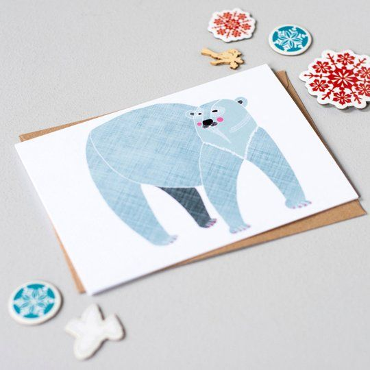 Warm Winter Wishes: Polar Bear Holiday Greeting Cards