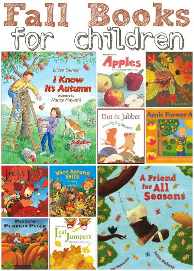Fantastic list of  picture books for kids about Fall. #kidlit #ece