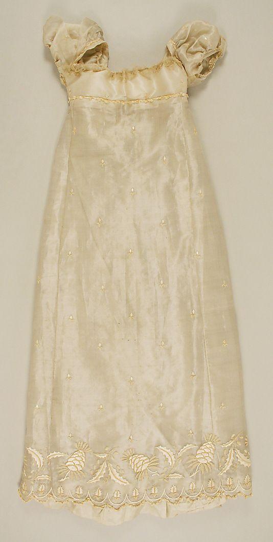 Dress  Date: 1804–14 Culture: French Medium: silk, piña