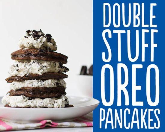Double Stuff Oreo Pancakes