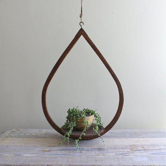 vintage teardrop plant hanger