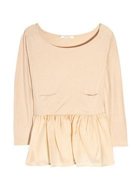 carven top with peplum #prettypastels