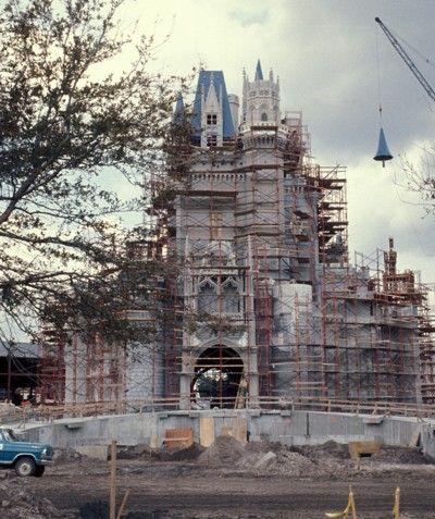 The magic kingdom Cinderella's castle under #construction #disney #castle
