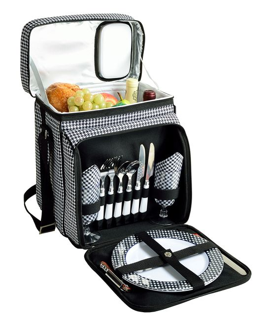 Houndstooth Two-Person Picnic Cooler