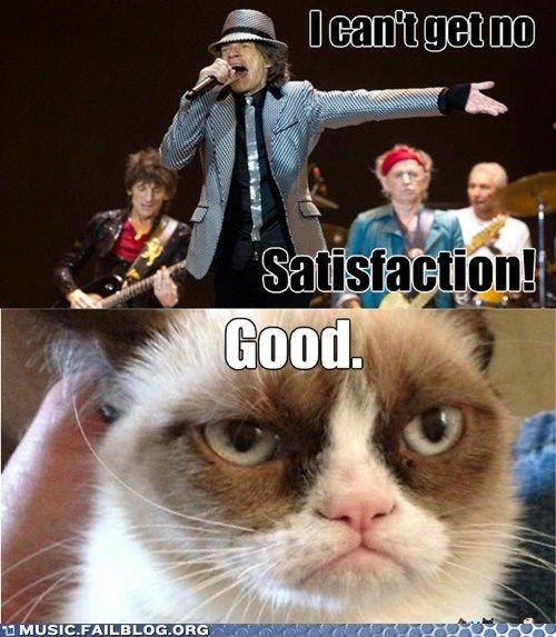 I can't get no #GrumpyCat #Memes