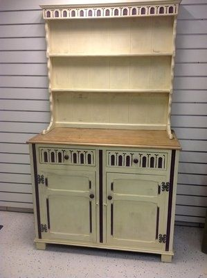 Shabby Chic Dresser / Hutch - myshabbychicdecor... - #shabby chic #home decor #design #ideas #wedding #living room #bedroom #bathroom #kithcen #shabby chic furniture