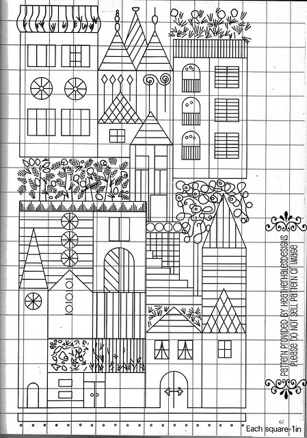 house embroidery pattern