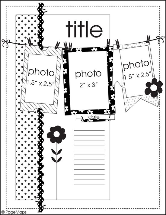 Fall 2012 Sketches by PageMaps for Scrapbook & Cards Today magazine www.scrapbookandc...