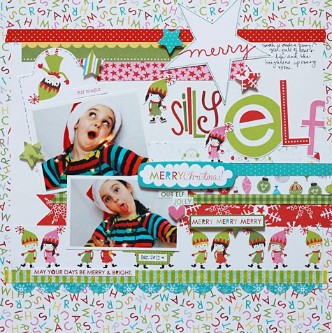 Silly Elf by Becky Williams featuring the Christmas Countdown Collection from Bella Blvd - Scrapbook.com