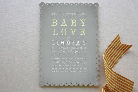 Baby Love Baby Shower Invitations