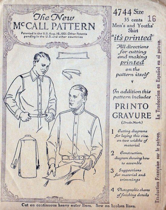 1920s Men's Shirt